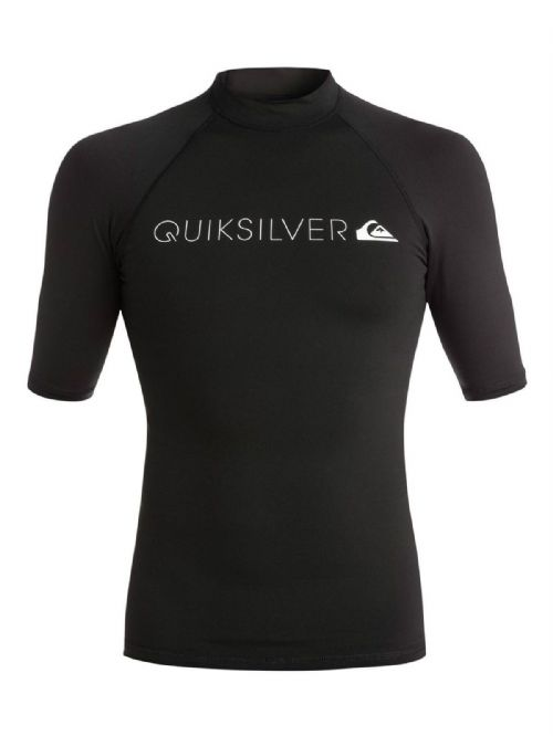 QUIKSILVER MENS RASH VEST.NEW WARM HEATER UPF50+ BLACK T SHIRT TOP 7S/3026/KVDO